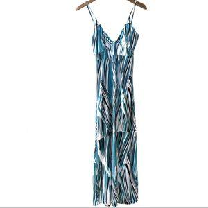 BCBG Paris tie-back abstract pattern sundress #776